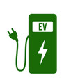 electric car charging station icon vector image