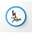 electrocution hazard icon symbol premium quality vector image