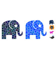 elephant composition icon circles vector image vector image