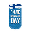finland independence day banner design vector image