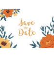 floral backdrop with elegant blossomed fall vector image vector image