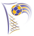 goal and football vector image vector image