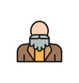 grandfather old man with a beard pensioner vector image vector image