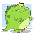 Green Dinosaur Cartoon Character vector image