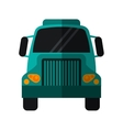 green front truck transportation commercial vector image