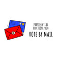 hand drawn vote mail stay safe concept vector image vector image