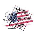happy memorial day usa vector image vector image
