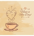 Have a nice day background with cup of tea vector image