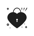 heart lock line icon love sign and symbol love vector image vector image