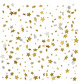 holiday starry background gold stars confetti vector image