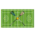 Lacrosse Field Equipment Aerial vector image vector image