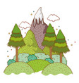 landscape nature wtih mountain vector image vector image