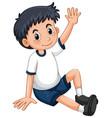 little boy having arm up