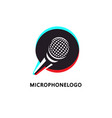 logo design for music or broadcasting related vector image vector image