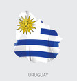 map of uruguay vector image vector image
