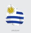 map uruguay vector image