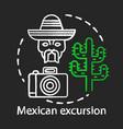mexican excursion chalk concept icon south vector image