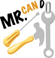 Mr Can Do vector image vector image