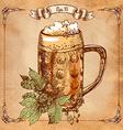 mug of beer hand-drawing