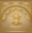 muslim community festival card with lamp vector image vector image