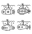 periscope icon set outline style vector image vector image