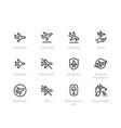 Plane flight icons airplane aircraft
