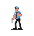 police sketch officer vector image vector image