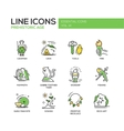 Prehistoric age- line design icons set vector image vector image