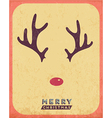 Retro Vintage Minimal Merry Christmas Background