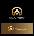 round letter a gold company logo vector image