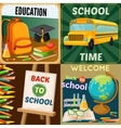 School Education Compositions vector image vector image
