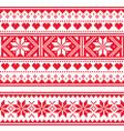 Scottish fair isle style seamless pattern