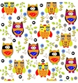 Seamless colourfull owl pattern for kids in vector image vector image