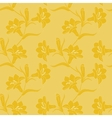 Seamless pattern with blooming yellow lilies vector image vector image