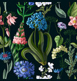 Seamless pattern with wild flower