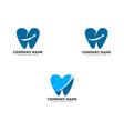 set arrow dental logo icon template vector image vector image