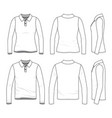 set of polo shirts vector image vector image