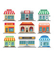 shops stores exteriors vector image vector image