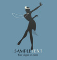 silhouettes dancing jazz or swing-05 vector image vector image