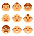 Smiles Set Avatar Emotions Happy Surprised vector image vector image