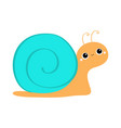 snail icon cute cartoon kawaii funny kids baby vector image vector image