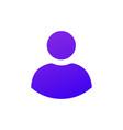 solid purple gradient user icon web icon vector image vector image