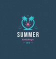 summer holidays label or badge typography slogan vector image vector image