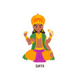 surya indian god cartoon character vector image vector image