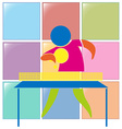 Table tennis icon in colors vector image vector image