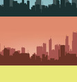 Three coloured contours of city vector image vector image
