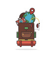 travel element and object layout concept flat vector image vector image
