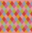 trendy pale colors rhombus pattern background vector image