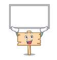 up board wooden board character cartoon vector image