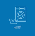 washing machine icon washer line logo flat sign vector image vector image